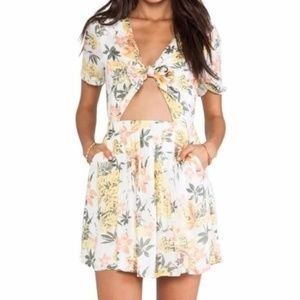 Free People Floral Print Cutout Dress - Never Worn